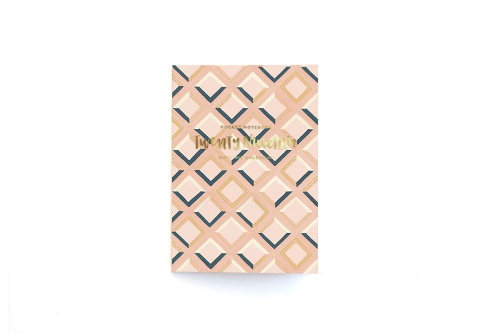 One Canoe Two - Pink Tile Calendar Notebook