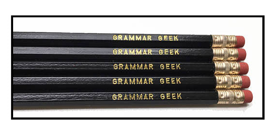 Fly Paper Products - Set of 5 Grammar Geek Pencils