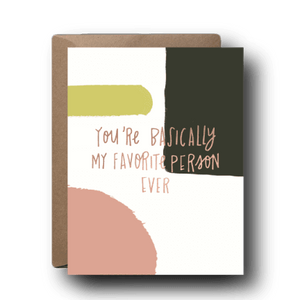 Black Lab Studio - My Favorite Person Love Greeting Card