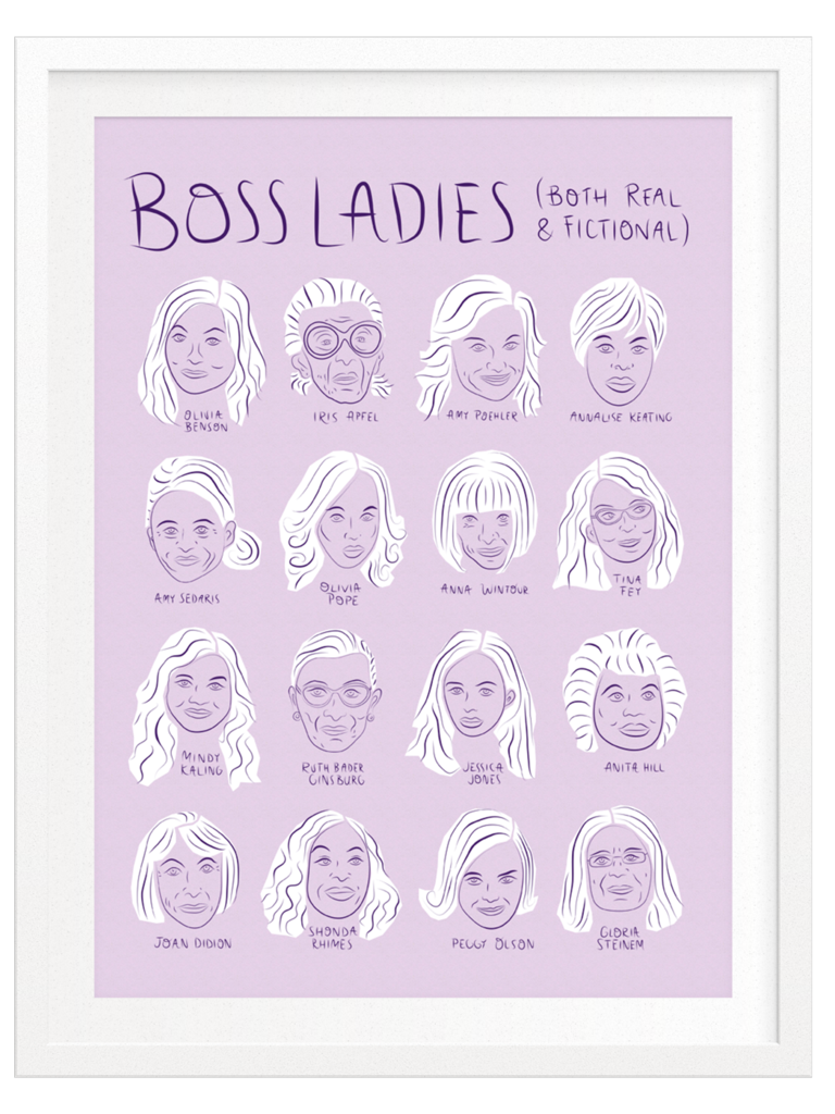 Boss Dotty Paper Co - Boss Ladies Chart Art Print