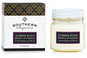 Southern Elegance Candle Co. - Summer Bliss: Grapefruit & Blackberry (Mason)