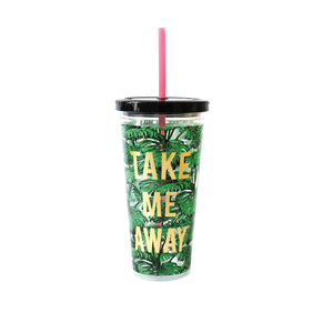 Portico Designs - Tumbler With Straw