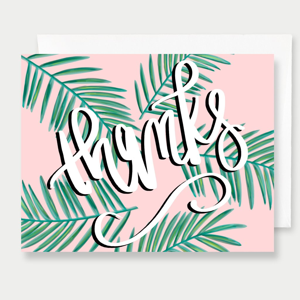 Thanks Palm - A2 Greeting Card
