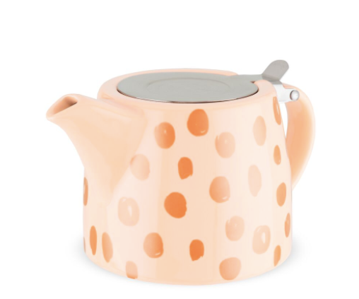 Peach & Gold Harper Ceramic Teapot & Infuser