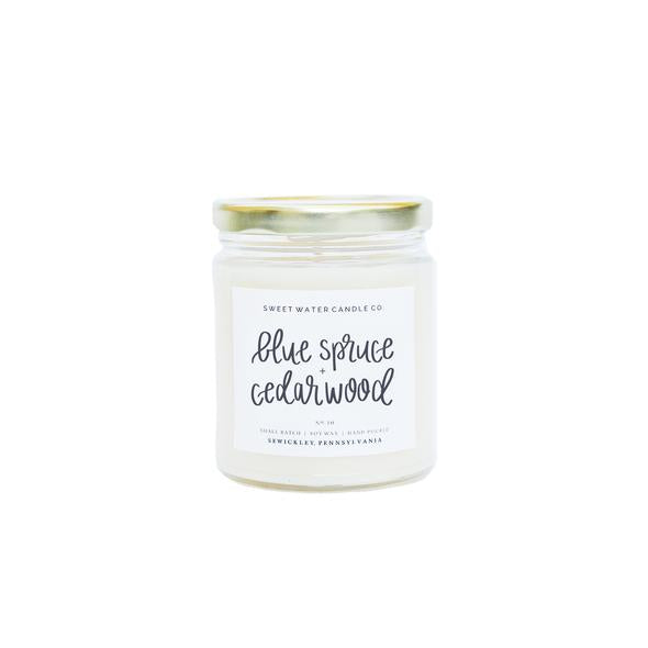 Sweet Water Candle Co. - Blue Spruce + Cedarwood Soy Candle 9oz