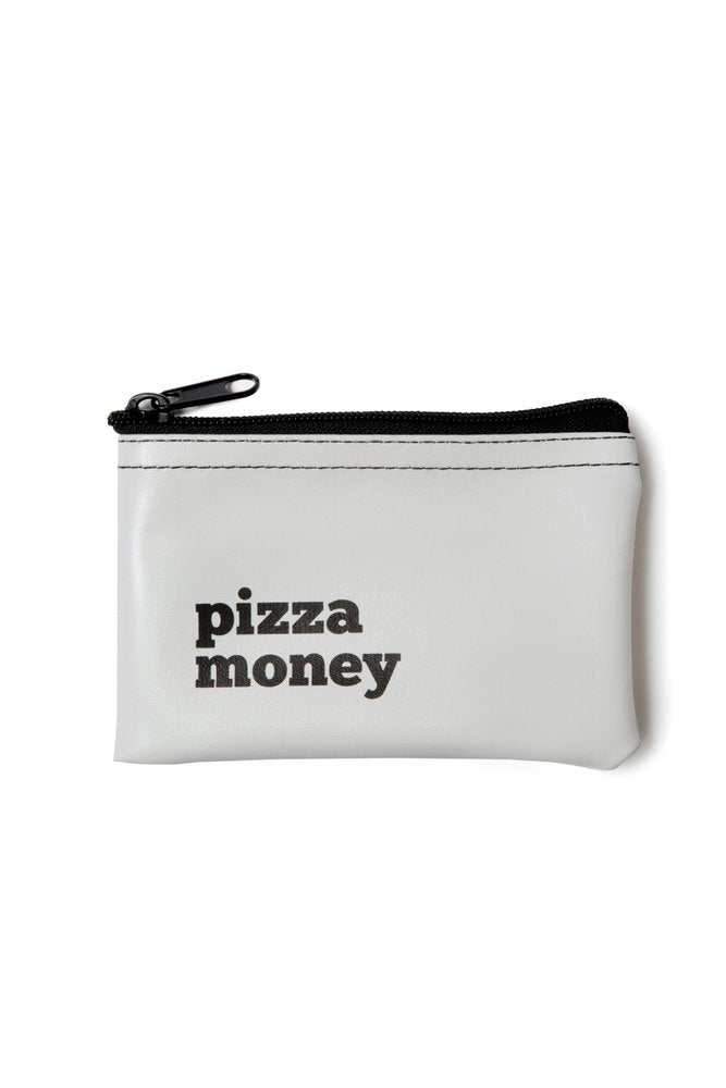 He said, She said - Pizza Money Vinyl Zip Pouch