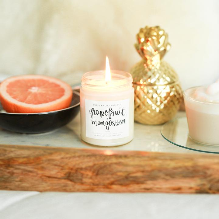 Sweet Water Candle Co. - Grapefruit and Mangosteen Soy Candle 9oz