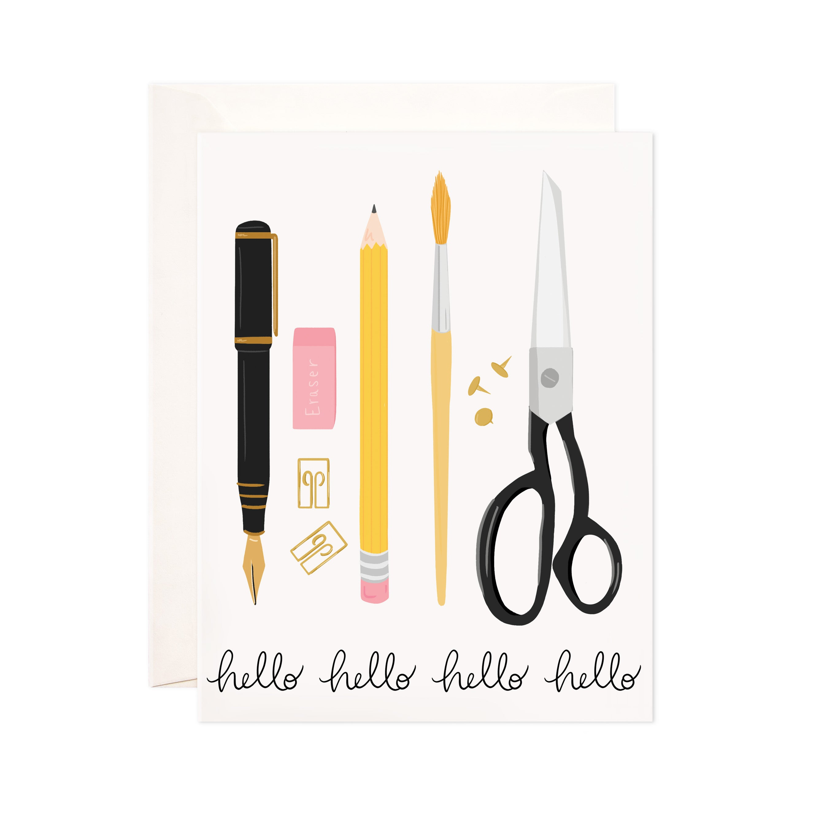 Bloomwolf Studio - Stationery Hello Greeting Card