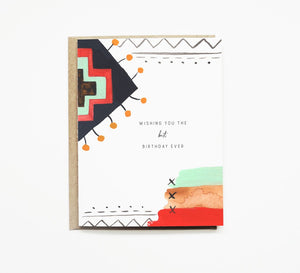 Pen + Pillar - Pattern No. 1 Birthday Card