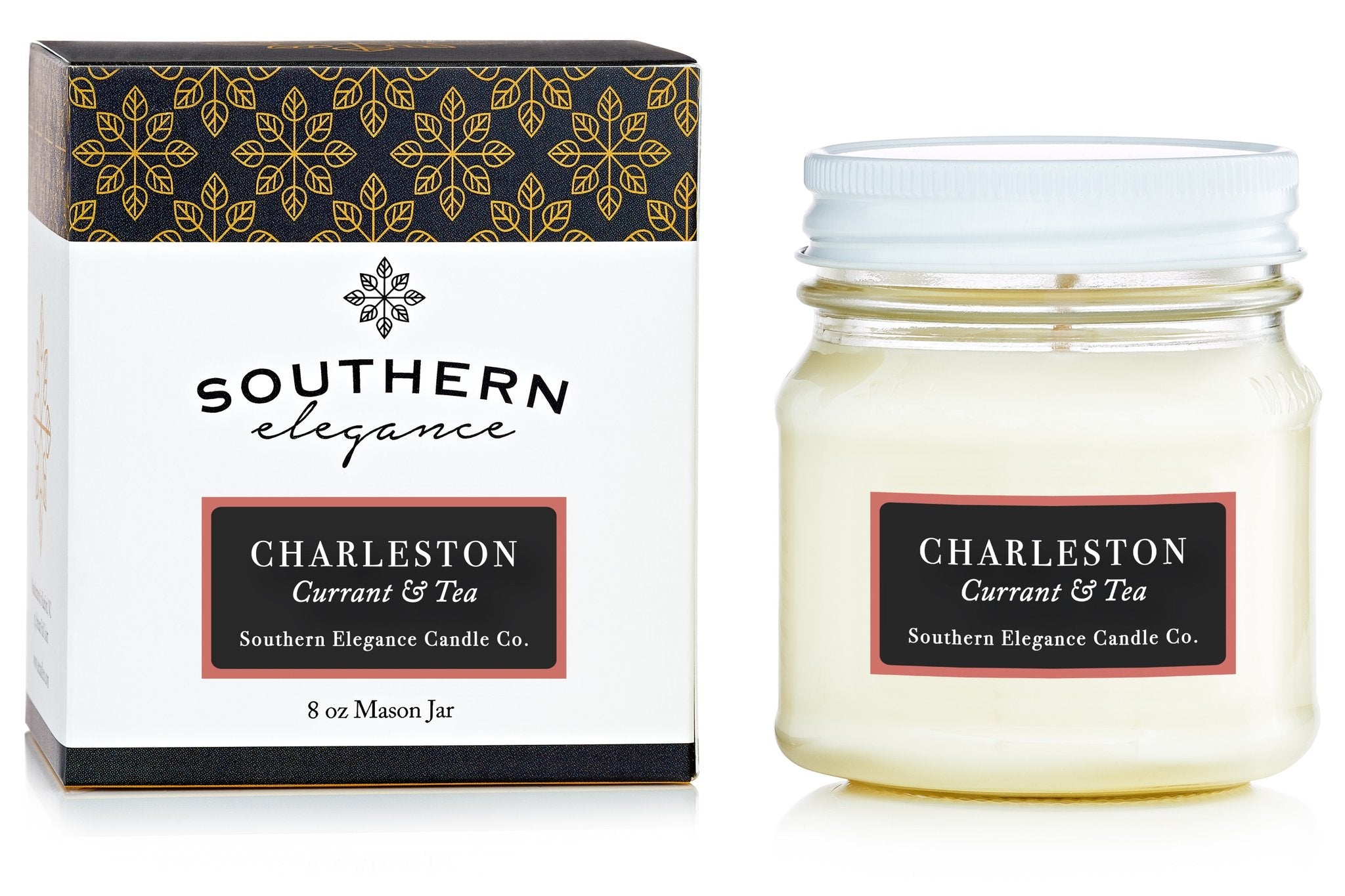 Southern Elegance Candle Co. - Mason: Charleston (Sweet Tea)