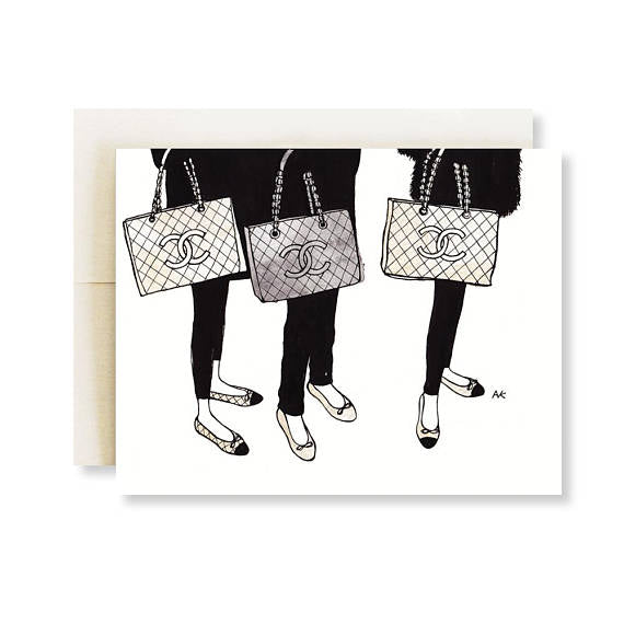 akrDesignStudio - Chanel Bag Card