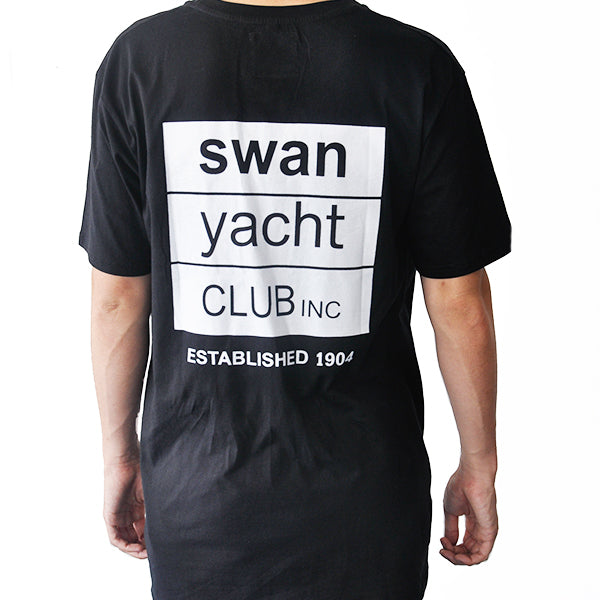 Swan Yacht Club Summer Vibes Pocket T (Black)