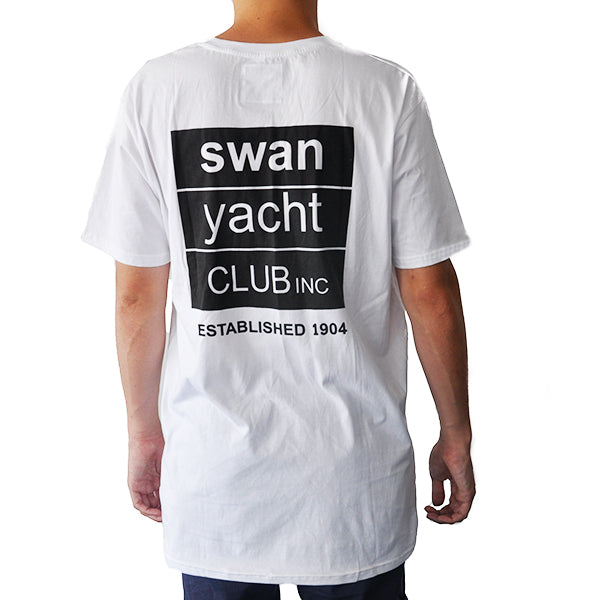 Swan Yacht Club Summer Vibes Pocket T (White)