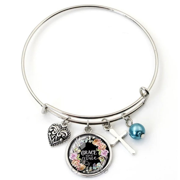 Grace Stainless Steel Inspirational Bracelets.