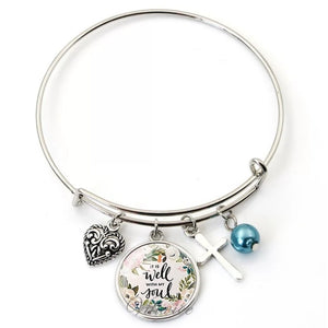 It Is Well Stainless Steel Inspirational Bracelets.