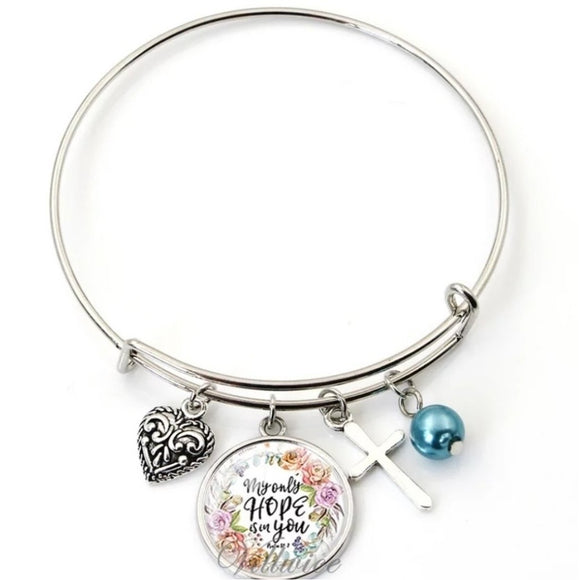My Only Hope Stainless Steel Inspirational Bracelets.