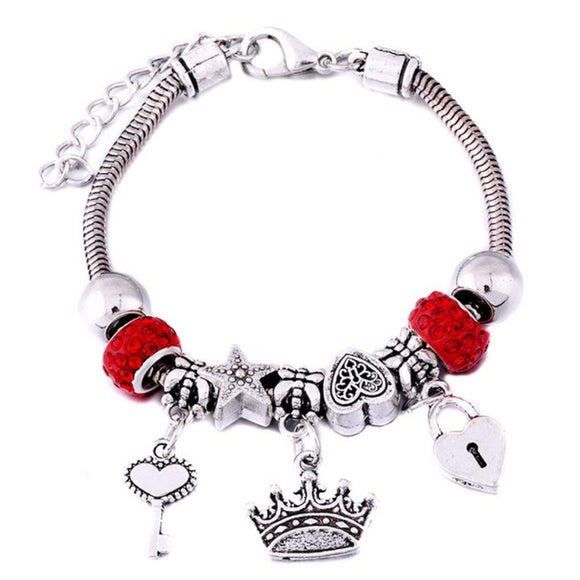 Crown Charm Bracelet For Kids