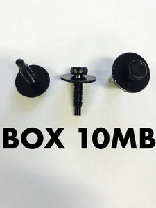 Carclips Box 10MB M5 Bolt Black - Colourfast Auto