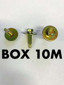 Carclips Box 10M M5 Bolt Gold - Colourfast Auto