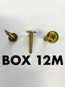 Carclips Box 12M 8G x 25mm Screw - Colourfast Auto
