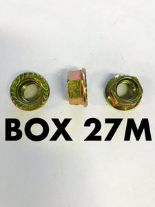 Carclips Box 27M M10 Brass Nut - Colourfast Auto