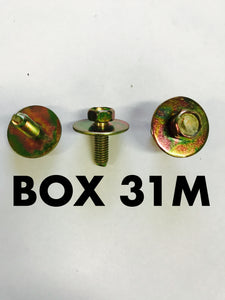 Carclips Box 31M M5 x 25mm Bolt - Colourfast Auto