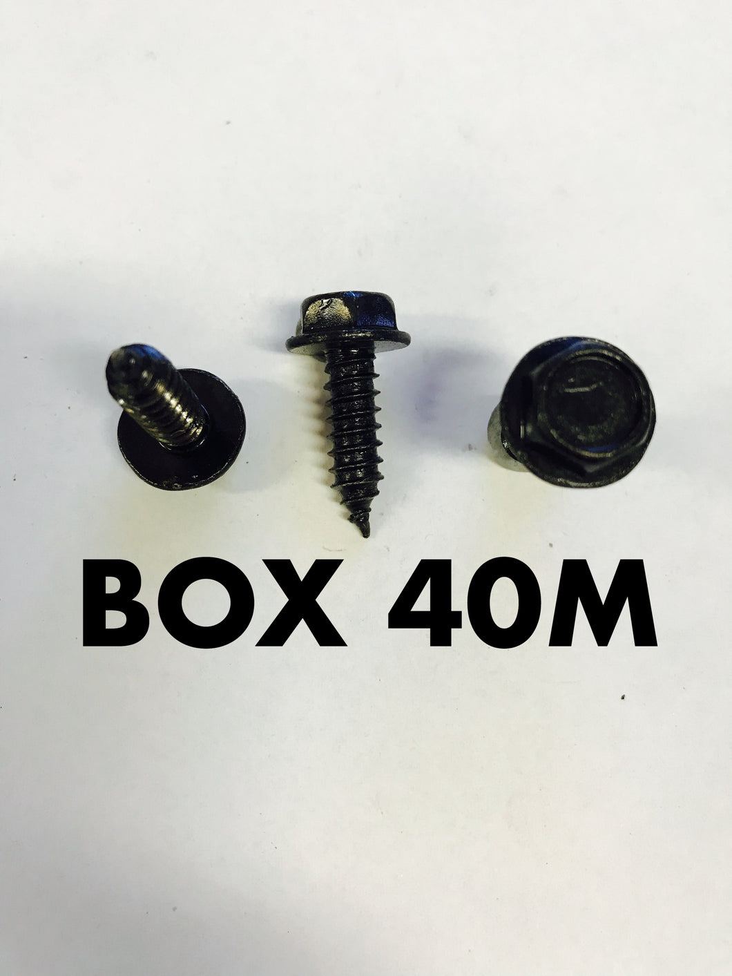 Carclips Box 40M M6 x 3/4 Black Screws - Colourfast Auto