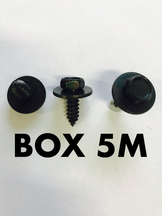 Carclips Box 5M M6 Screw Black - Colourfast Auto