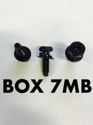 Carclips Box 7MB M6 Bolt 18mm Black - Colourfast Auto