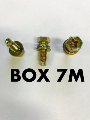 Carclips Box 7M M6 Bolt 18mm Gold - Colourfast Auto