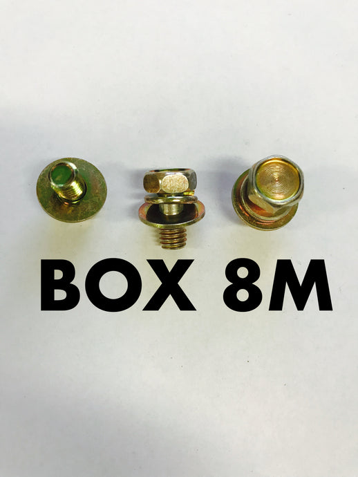 Carclips Box 8M M6x12mm Bolt Gold - Colourfast Auto