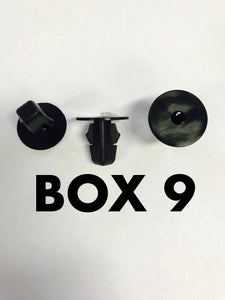Carclips Box 9 10230 Screw Grommet - Colourfast Auto