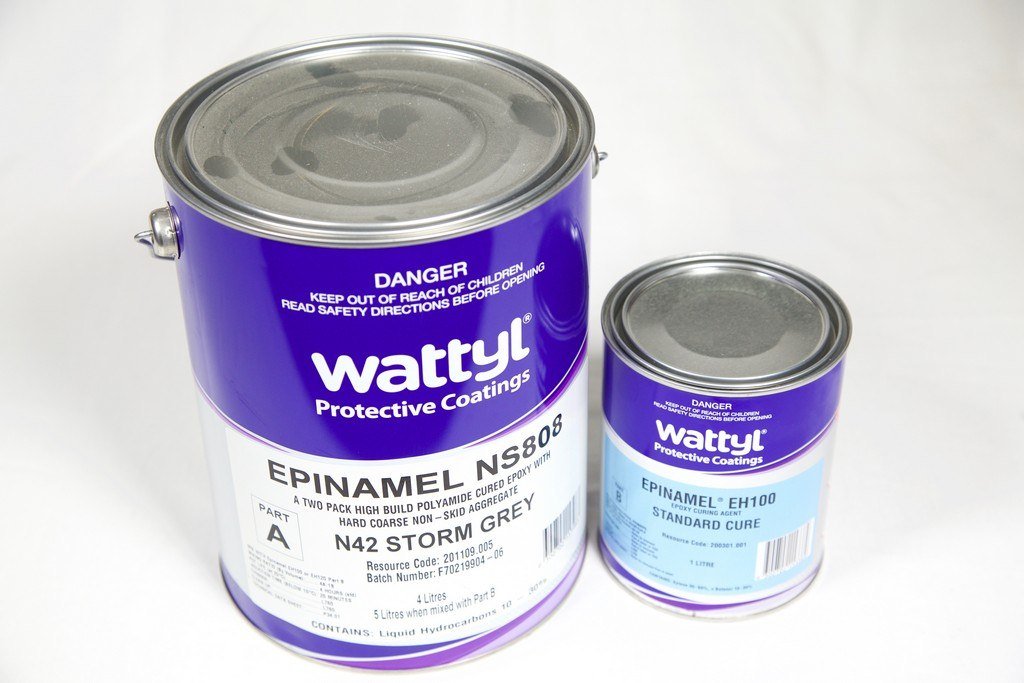 WATTYL EPINAMEL NS808 NON SKID EPOXY GREY 5LT PACK - Colourfast Auto