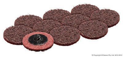 50MM MAROON ABRASIVE DISC (PKT 10) - Colourfast Auto