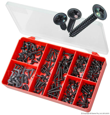 Black Pozidrive Self Tapping Screws