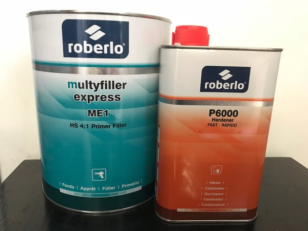 ROBERLO PRIMER KIT GREY WITH HARDENER 4:1 - Colourfast Auto