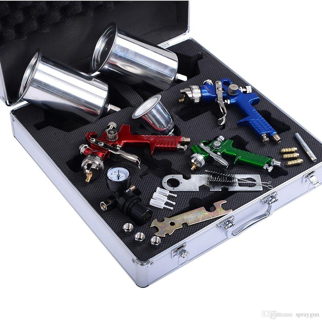 3 GUN GRAVITY SPRAY GUN KIT