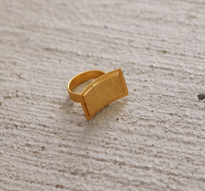 BAND 18K GOLD PLATED ADJUSTABLE RING