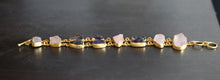 PARALLEL NATURAL STONE BRACELET / 18K GOLD PLATED / AMETHYST / ROSE QUARTZ / CITRINE / GARNET