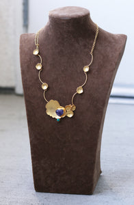 LOTUS NECKLACE /18K GOLD PLATED / AMETHYST / TURQUOISE