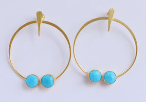 TRIBAL FOLK EARRINGS 18K GOLD PLATED EARRINGS