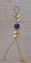 FOREST PRINCESS - LAPIS LAZULI ADJUSTABLE 18K GOLD PLATED HAND CHAIN / HAND ARREST