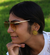 TRIBAL DOTS 18K GOLD PLATED EARRINGS