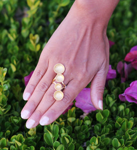 RIPPLE 18K GOLD PLATED RING