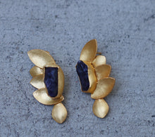 HALF BUTTERFLY 18K GOLD PLATED EARRINGS