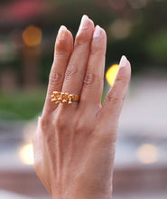 ROOTS 18K GOLD PLATED ADJUSTABLE RING