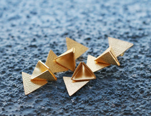 TRIANGLE FALL EARRINGS 18K GOLD PLATED