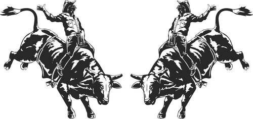 Rodeo Bull Rider Sticker (Pair)