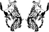 Rodeo Rider Bug Deflector Sticker (Pair)