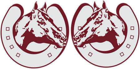 Truck Swirl Scroll Tri Point Sticker (Pair)